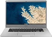 Samsung 三星 XE350XBA-K05US Chromebook 4 + Chrome OS 15.6 英寸全高清英特尔赛扬处理器 N4000 4GB RAM 128GB SSD,Platinum Titan