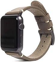 SLG Design Apple Watch 表带 40mm 38mm用 真皮 Italian Buttero Leather Strap 米色 (苹果手表表带 意大利皮革) 意大利仿真皮革 替换皮带 series 5/