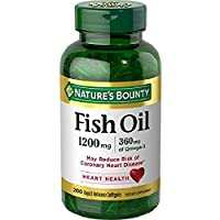 Nature's Bounty Fish Oil, 1200 mg Omega-3, 200 Rapid Release…