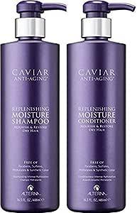 Alterna Caviar 补水保湿洗发水和护发素 16盎司