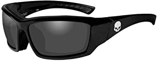 Harley-Davidson 男式骷髅头垫太阳镜,灰色镜片/黑色边框 HATAT01