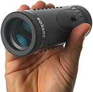 正品 ROXANT Grip Scope 高清广角望远镜 – 带可伸缩眼镜和全多涂层光学玻璃镜片 + BAK4 棱镜。 配有清洁布、表壳和颈带。