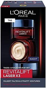L'Oreal Paris 巴黎欧莱雅 Revitalift Laser X3 日霜晚霜礼品套装,透明质酸