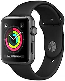 Apple Watch 3 - Gwiezdna Szarość铝合金 42   Czarny Sportowy Pasek