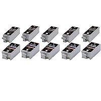 10X 或 5 套兼容 Canon 佳能 PGI-35 Black & CLI-36 彩色墨盒 適用于佳能 PIXMA IP100、IP110、Mini 260、320。PGI-35BK & CLI-36C