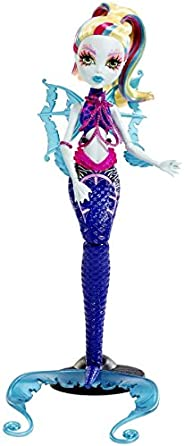 Monster High 伟大运载火箭 Glowsome Ghoulfish Lagoona 蓝色玩偶