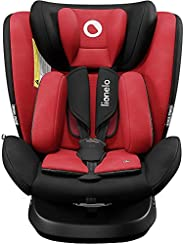 Lionelo Bastiaan ONE 儿童座椅 出生起 0-36 千克 Isofix Top Tether 360 度旋转,向后向前侧保护 5 点*带 Dri-Seat (红色)