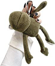 UR Sunshine AirPods 1/2 手机壳,*可爱创意毛绒玩具风格填充青蛙 AirPods 手机壳,包吊坠硬质 PC 耳机保护盖皮肤兼容 AirPods1&2