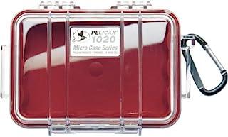 防水手机壳 | PELICAN 1020Micro CASE–适用于手机 gopro 摄像机 and more 红色 / 透明 )