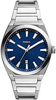 Fossil 男式 Everett 不锈钢石英手表