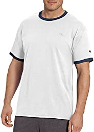 Champion 男子经典球衣T恤,领子袖口环状撞色