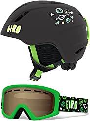Giro Launch Combo 儿童雪地头盔,带配套护目镜