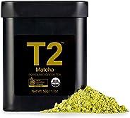 T2 Tea 绿茶抹茶粉 黑色罐装, 50g