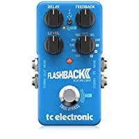 tc 电子 Flashback 2 延迟传奇踏板,带接地式机械脚踏板/水晶延迟效果
