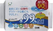 ライフ堂 婴儿湿巾 外出用 白色 约宽15厘米×长20厘米(每片) 无酒精 无香料 99% 日本制造 LD-037 30片3个装