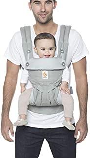 Ergobaby 360 全位置婴儿背带,腰部支撑,适合12-45磅(约5.44-20.41千克),珍珠灰