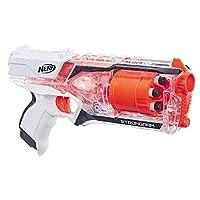 NERF 热火 Strongarm Nerf N-Strike Elite玩具冲击波,带有旋转式枪管,猛击走火,以及6个Nerf Elite官方飞镖 面向儿童,青少年和成人