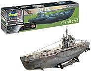 Revell 威望 5163 1:72 Platinum ( 限量版 ) 塑料模型套装 05163 德国潜水艇 Type VII C/41,多色,1/72