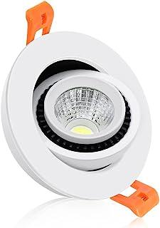 *新 2 英寸 LED Taichi 筒灯,可调光嵌入式照明,3 瓦(相当于 35 瓦卤素)COB 聚光灯,4000K 自然白色,CRI80,LED 吸顶灯带 LED 驱动(1 件装)