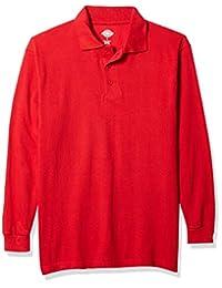 Dickies 男式长袖珠地布 Polo 衫