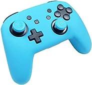JoyCons 任天堂切换控制器手柄 - 2 个装符合人体工程学的舒适手柄,适用于 Joy Cons 控制器,左右两只装 Silocone controller Colorz Blue 蓝色