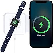 2 合 1 无线 Mag-Safe 充电器,快速充电兼容 iPhone 12 Mini /12 Pro / 12 Pro Max/ 11 系列 / X/XR, AirPods Pro, iWatch