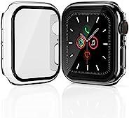 [2 件装] Geekboy Apple Watch 屏幕保护膜44 毫米 42 毫米 40 毫米 38 毫米,钢化玻璃iWatch 保护套适用于 iPhone Watch 系列 SE/6/5/4/3/2/1 高级保险杠