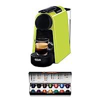 De'Longhi 德龍 Nespresso Essenza Mini EN 85L膠囊咖啡機 歡迎套裝中包含不同口味的膠囊 19 bar泵壓 節省空間的 檸檬黃