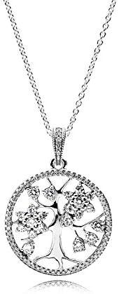 Pandora 潘多拉 女式银吊坠项链 – 390384CZ-80