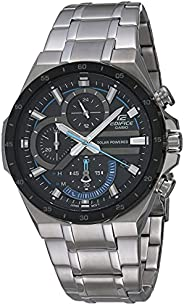 CASIO 男式 'Edifice' 石英不锈钢手表,颜色:银色(型号:EQS-920