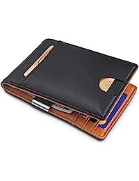 卡片夾超薄前口袋錢包 ID 窗卡套錢包 帶 RFID 屏蔽卡包 極簡主義