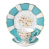 皇家阿爾伯特的3件100?YEARS 1930茶杯碟形 & 板套裝27.94?cm 多色