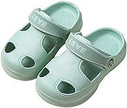 Yinbwol 女孩男孩花园木底拖鞋 幼儿木底鞋 卡通独角兽凉鞋 滑梯 防滑 小孩 木屐 轻便 一脚蹬 海滩 泳池淋浴鞋