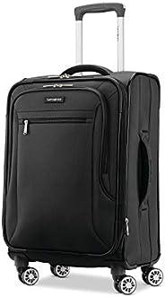 Samsonite 新秀丽 Ascella X Softside 可扩展行李箱,带滚轮 黑色 Carry-On 20-Inch