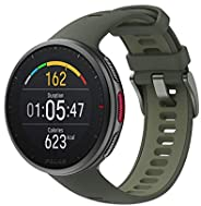 Polar Vantage V2 - 高级多功能运动手表 GPS 智能手表 - 手腕上的脉搏测量,用于跑步、游泳、骑自行车 - 音乐控制、天气预报、智能通知
