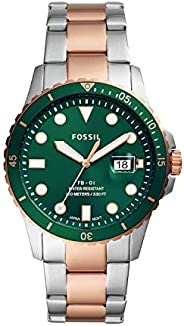 Fossil 男式 FB-01 不锈钢潜水灵感休闲石英手表
