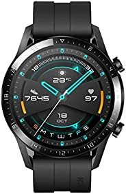 Huawei 华为 手表 GT 2(46 毫米)智能手表,1.39 英寸/约3.53厘米 AMOLED 显示屏,带 3D 玻璃屏幕,2 周电池寿命,GPS,15 种运动模式,3D 玻璃屏幕,蓝牙通话智能手表,哑光黑色