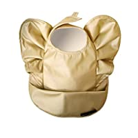 Elodie Details 吃飯圍兜 保育園 時尚 防水 北歐 嬰兒圍兜 圍兜 圍兜 Baby Bibs Golden Wings