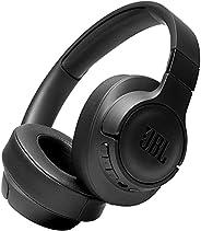 JBL Tune 760NC 头戴式耳机 - 轻质 JBL 耳机无线蓝牙可折叠带主动降噪功能 - 散装包装 - 黑色