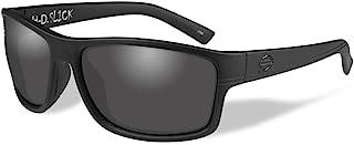 Harley-Davidson 男式光滑太阳镜,烟雾镜片/哑光黑色边框 HASLK01