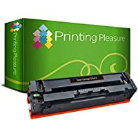 Printing Pleasure 兼容CF540X 203X碳粉盒適用于HP惠普 Colour LaserJet Pro M254dw M254nw MFP M280nw MFP M281fdn MFP M281fdw - 黑色,高產量(3,200頁)