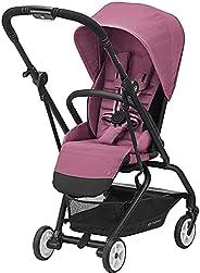 Cybex Eezy S Twist 2 婴儿车,独特的单手 360 度旋转座椅,单手折叠,旅行推车,易于携带,玉兰粉色