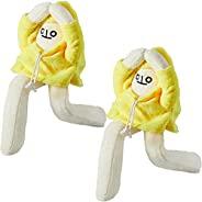 2 个填充香蕉娃娃玩具 香蕉娃娃 男士毛绒玩具 磁铁姿势 搞笑男人娃娃 减压玩具 毛绒枕头玩具 填充娃娃礼物 生日派对 黄色 7.1 英寸 / 18 厘米