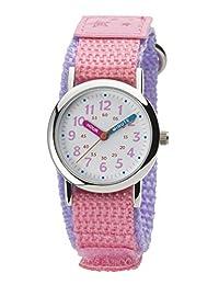 Kleiwa兒童手表 模擬 兒童 防水 尼龍表帶 NB-AK217-A 女孩 粉色