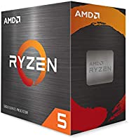 AMD Ryzen 5 5600X 6核 12线程解锁台式机处理器,带有Wraith Stealth散热器