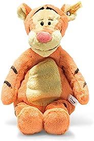 Steiff Tigger 小熊维尼,柔软可爱的朋友,迪士尼原装老虎 - 30 厘米,毛绒动物,适合儿童,柔软,可洗涤,橙色/米色(024535)