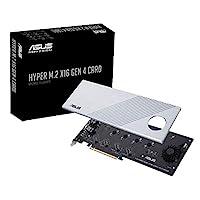 华硕 Hyper M.2 X16 PCIe 4.0 X4 扩展卡支持 4 NVMe M.2 (2242/2260/2280/22110) *高 256Gbps 用于 AMD 3rd Ryzen sTRX40、AM4 插座和英特尔 VROC NVMe Raid