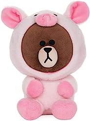 GUND LINE Friends 小豬棕熊毛絨填充動物玩具,7 英寸