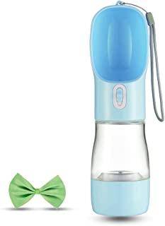 宠物水瓶便携式水多功能便携式狗水瓶宠物户外徒步宠物水瓶适用于户外徒步散步旅行(蓝色)