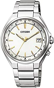 CITIZEN西铁城 腕表 Atessa Eco-Drive 光动能驱动 电波腕表 世界时间 Direct Flight CB1120-50P 男士 银色